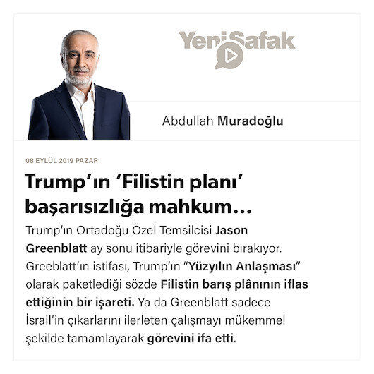 Trump'ın 'Filistin planı' başarısızlığa mahkum…