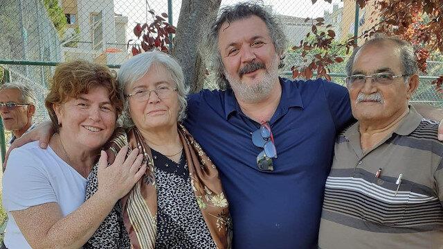 Müfit Can Saçıntı ve babası Muhittin Saçıntı.