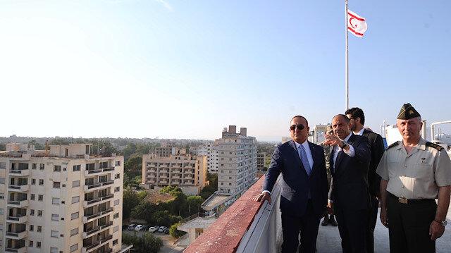 Dışişleri Bakanı Çavuşoğlu kapalı Maraş'ı ziyaret etti