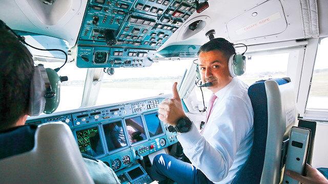Bakan Pakdemirli Rus yangın uçağını test etti