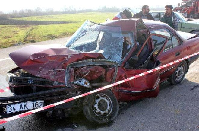 Adnan Kahveci'nin hayatını kaybettiği araç.