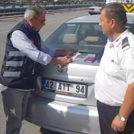 Kırmızı ışık ihlali yapan servis sürücüsüne ceza: 705 TL