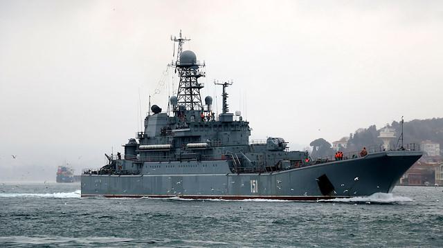 151 Borda numaralı 'Azov' adlı Rus savaş gemisi.