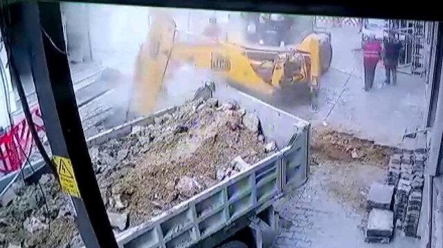 Doğalgaz borusu böyle patladı