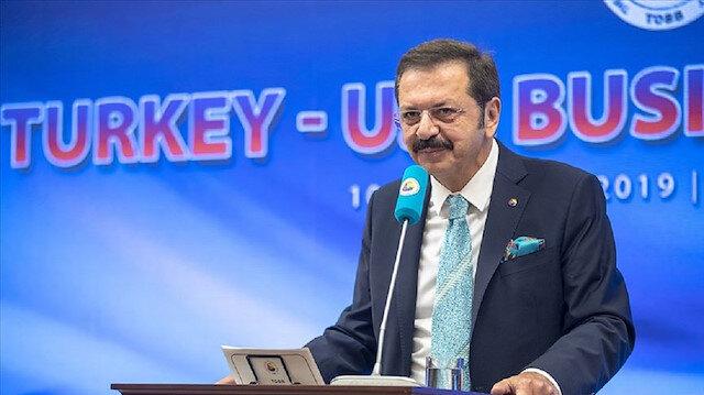 Hisarcıklıoğlu: Türkiye-ABD Serbest Ticaret Anlaşması imzalanmalı