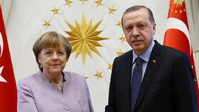 Turkish President Recep Tayyip Erdoğan - German Chancellor Angela Merkel