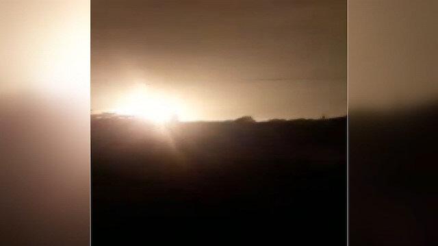 İşgalci İsrailden Gazzeye hava saldırısı