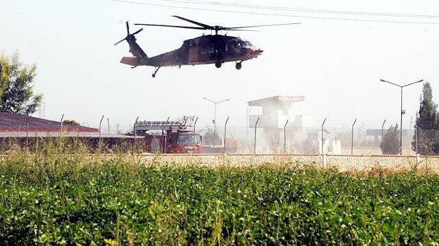 Helikopterler ortak devriye uçuşu için havalandı.