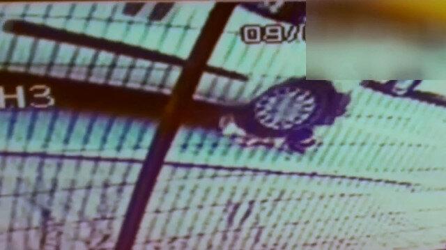 Minik Zeynep'in inanılmaz kurtuluşu kamerada