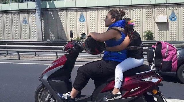 E-5'te motosiklet sürücüsü faciaya davetiye çıkardı