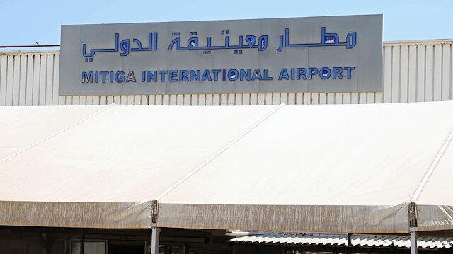 Libyan passengers wait at Mitiga airport in Tripoli, Libya