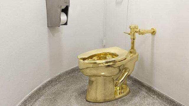 1 milyon sterlinlik altın klozet çalındı