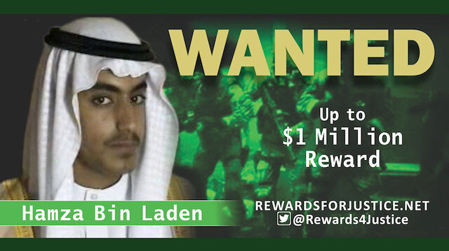 A photograph circulated by the U.S. State Department's Twitter account to announce a $1 million USD reward for al Qaeda key leader Hamza bin Laden, son of Osama bin Laden, is seen March 1, 2019. State Department/Handout via REUTERS ATTENTION EDITORS - THIS IMAGE WAS PROVIDED BY A THIRD PARTY.