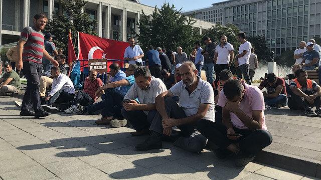 İBB'deki işçi kıyımına yönelik protestolar devam ediyor