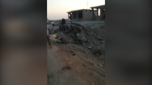 Çobanbey'deki bombalı saldırı sonrası ilk görüntüler