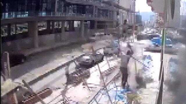 İskele çöktü, işçiler ölümden döndü