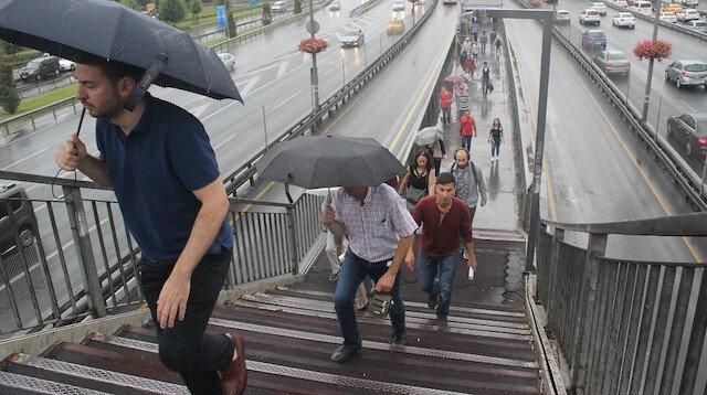 Meteorolojiden İstanbul ve 37 ile yağış uyarısı yapıldı
