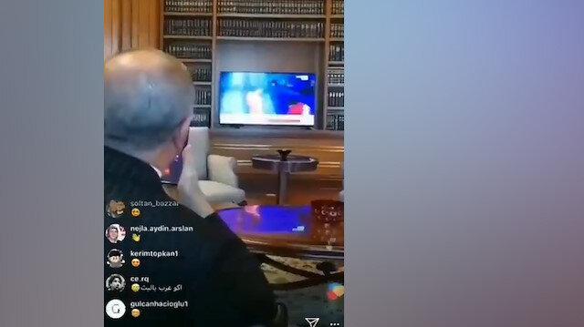 Erdoğan, Rıza Kayaalp'in şampiyonluğunu böyle izledi