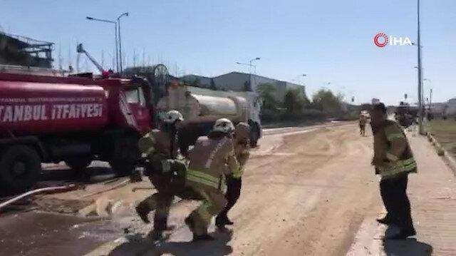 Tuzlada fabrika yangınında patlama