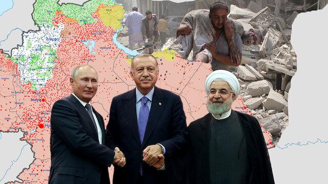 Ankara'da düzenlenen Suriye zirvesinde 3 lider bir araya gelmişti.