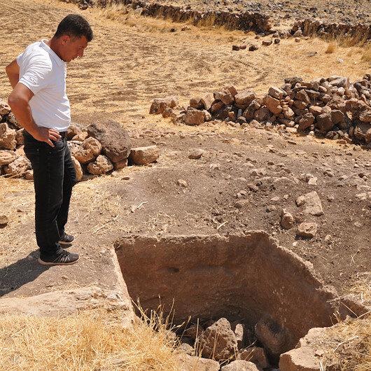 Kaçak kazıda ortaya çıktı: 1500 yıllık