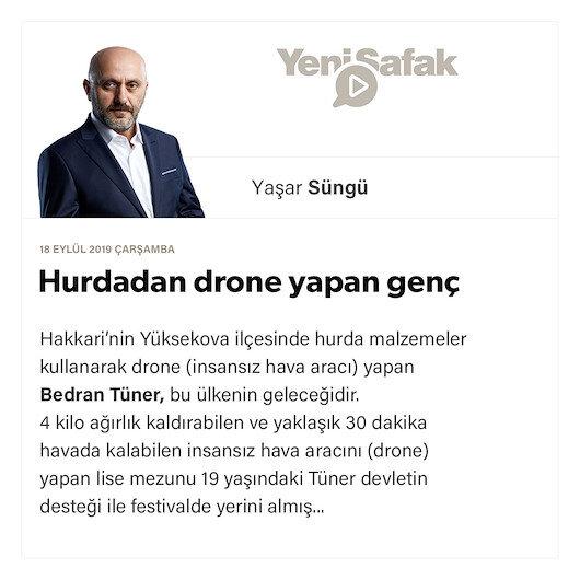 Hurdadan drone yapan genç