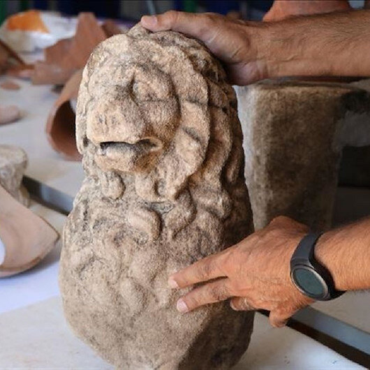 Lion statue of Hellenistic period unveiled in NW Turkey