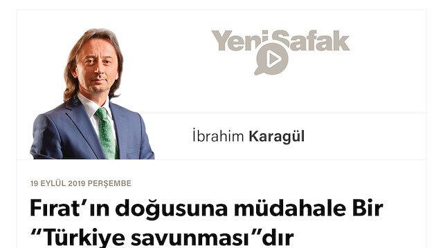 """* Fırat'ın doğusuna müdahale Bir """"Türkiye savunması""""dır * Tehdit çok büyük ve çok yakın. 'Harita'nın Türkiye ayağı da var. * CHP, İyi Parti, Saadet ve AK Parti'den ayrılanlar, neden sesiniz çıkmıyor!"""
