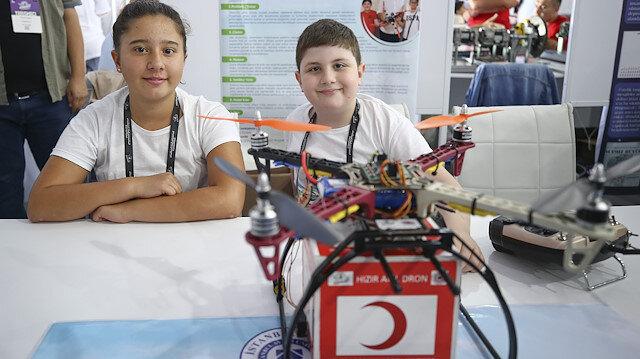 Hızır Afet Droneu ile kazazedelere ilk yardım