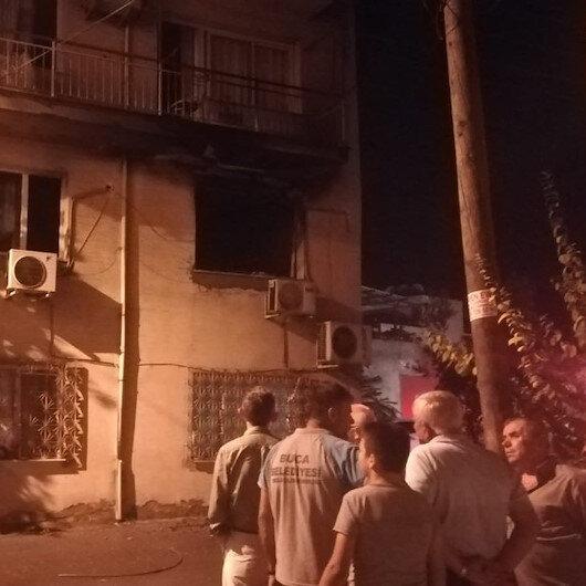 Evde çıkan yangında buzdolabı patladı: 3 yaralı