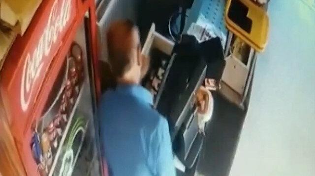 Restoranın kasasını 15 saniyede boşalttı