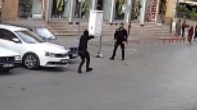 Maskeli saldırgan tarafından tüfekle böyle vuruldu