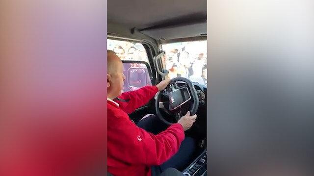 Cumhurbaşkanı Erdoğan yerli pikapı test etti