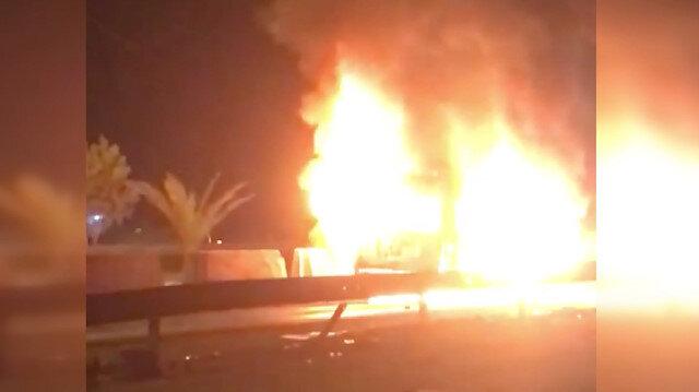 Kerbela'da yolcu otobüsünde patlama