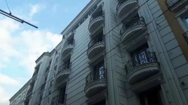 Fatih'te lüks otelde yangın paniği