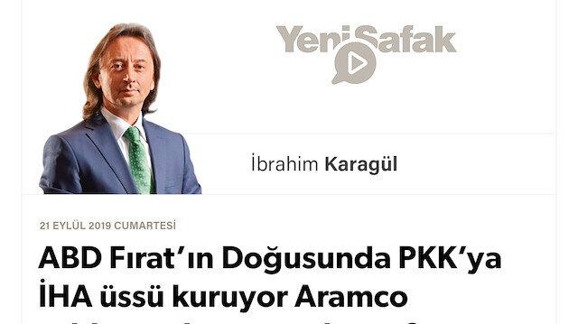 """* ABD Fırat'ın Doğusunda PKK'ya İHA üssü kuruyor * Aramco saldırısından sonra bu ne? * Suriye'den """"Türkiye cephesi"""" açanlar, savaşı """"içeri"""" taşımak için toplanıyor.. *Siyasi arayış değil, """"görevlendirme""""..."""
