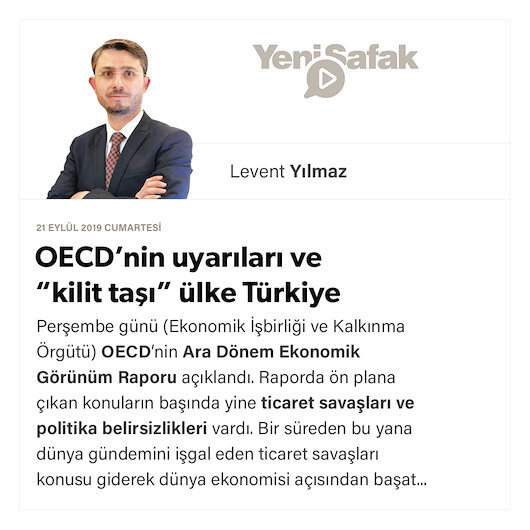 """OECD'nin uyarıları ve """"kilit taşı"""" ülke Türkiye"""