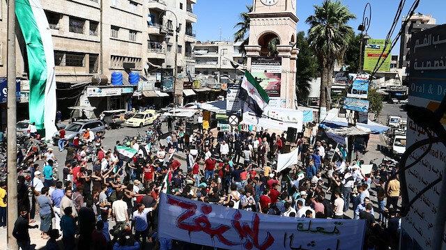 الآلاف يتظاهرون في إدلب السورية ضد روسيا والصين