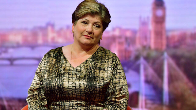 Emily Thornberry, Labour Party's Shadow Foreign Secretary, appears on BBC TV's The Andrew Marr Show in London, Britain July 14, 2019. Jeff Overs/BBC/Handout via REUTERS ATTENTION EDITORS - THIS IMAGE HAS BEEN SUPPLIED BY A THIRD PARTY. NO RESALES. NO ARCHIVES. NOT FOR USE MORE THAN 21 DAYS AFTER ISSUE.