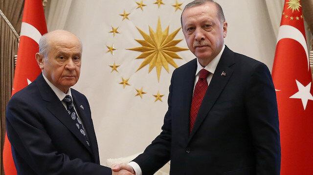 Cumhurbaşkanı Erdoğan Bahçeli'yi aradı