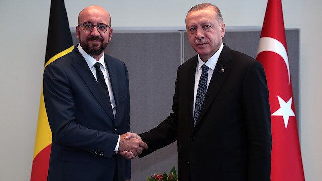 Cumhurbaşkanı Erdoğan Belçika Başbakanını kabul etti