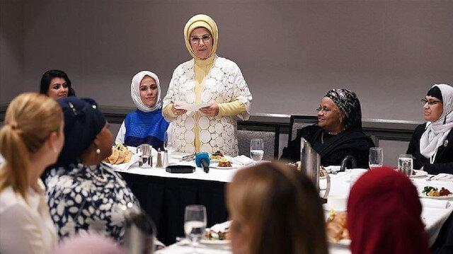 زوجة الرئيس التركي تلتقي ممثلات الجالية الإسلامية بنيويورك