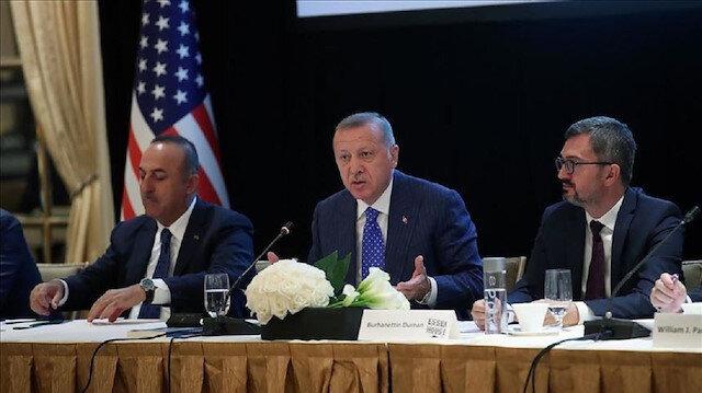أردوغان يلتقي ممثلي الجالية الإسلامية في أمريكا