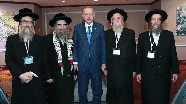 أردوغان يستقبل وفد حركة اليهود المناهضين للصهيونية في نيويورك