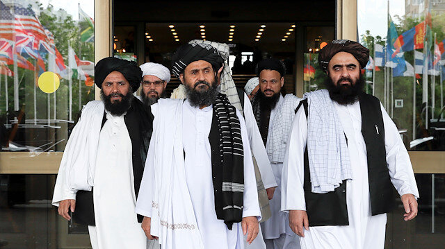 File photo: Members of a Taliban delegation are seen at the picture