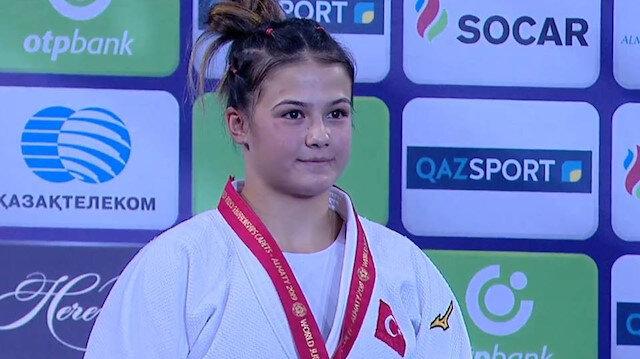 Milli judocu Habibe Afyonlu dünya şampiyonu oldu
