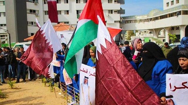 Katar'dan Gazze'deki 50 bin aileye nakdi yardım