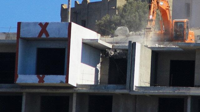 Kırmızı çarpılar konuldu, Bodrum'un tüm mahallelerinde yıkımlar başladı