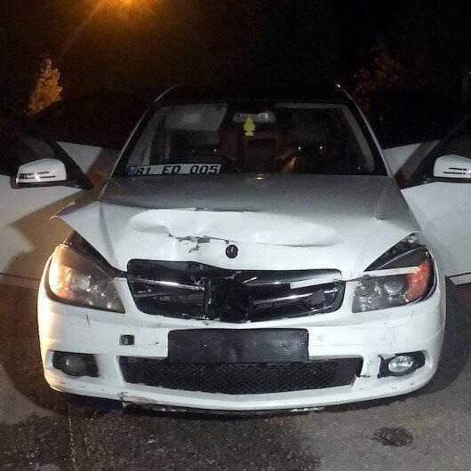 Düzce'de ehliyetsiz sürücü polisten kaçmak isterken kaza yaptı