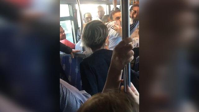 Metrobüste kadın şiddeti kamerada